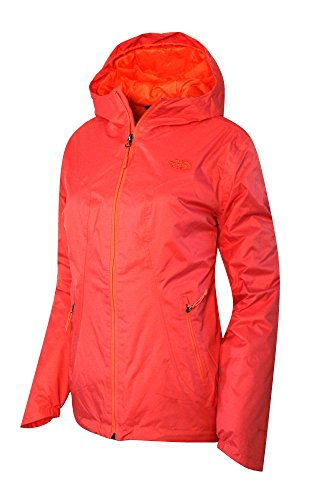 The North Face Womens Insulated Boreal Hooded Rain Jacket (XS, Spiced Coral)