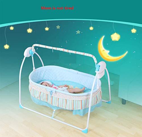 Baby Shaker - Cuna eléctrica para bebé, sillón reclinable, cama inteligente automática Yaoyao, mecedora, recién nacido, vibrador, mano de la madre liberadora, adecuada para niños de 0 a 2 años