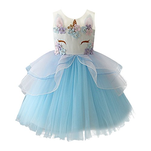 OBEEII Girls Unicorn Costume Cos...