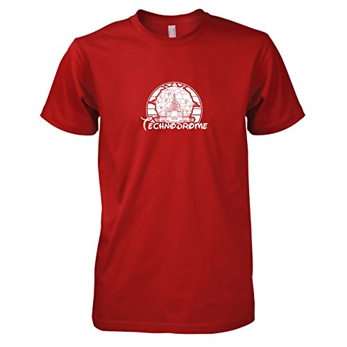 TEXLAB - Turtles Technodrome - Herren T-Shirt Rot