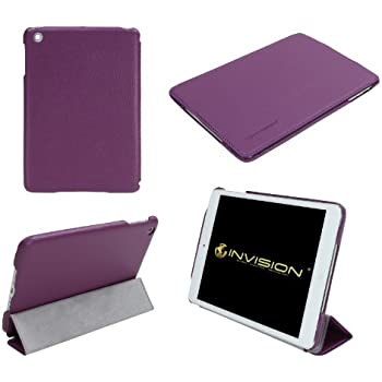 """Invision® iPad Mini 1 2 & 3 Smart Case Cover - Superior Design Features - Magnetic Auto Wake/Sleep Function Quality PU Leather - Recommended by """"Which?"""" Magazine (iPad Mini 1 2 & 3 Purple)"""