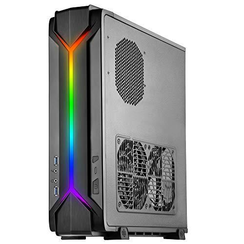 SilverStone SST-RVZ03B-ARGB - Raven Mini-ITX Gaming Computer Gehäuse, ARGB, schwarz