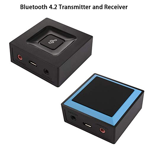 ZBLighting Wireless Bluetooth 4.2 Transmitter und Receiver Sender Empfänger Digital Optischer Audio Adapter Audiogeräte Schwarz für TV Geräte und Stereoanlagen Home HiFi Auto Stereo System Digital-audio-sender