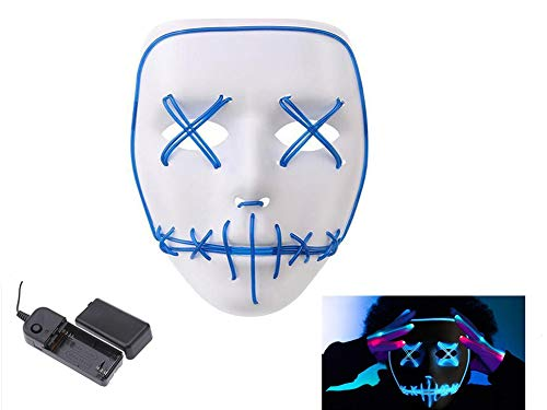 Wire Cosplay Maske für Halloween Christmas Party Costume Mask Purge Horror Blau Mask ()