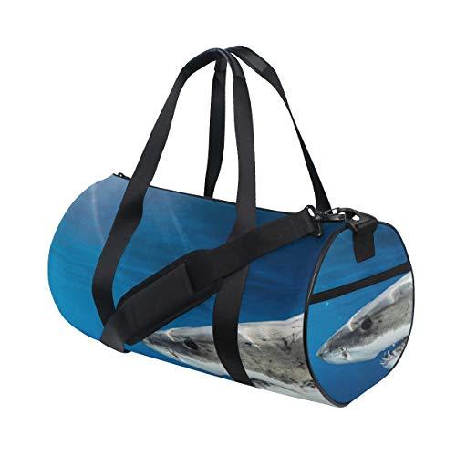 ca00fe99d2c8 Plosds Fierce Awful Shark Custom Multi Lightweight Large Yoga Gym Totes  Handbag Travel Canvas Duffel Bags With Shoulder Crossbody Fitness Sports ...