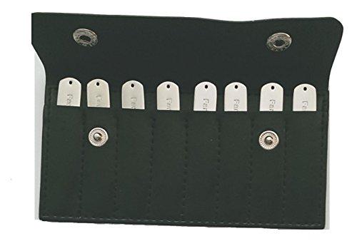 Acht luxus edelstahl hemd kragen versteifungen / kragen bleibt in einem luxuriösen schwarze lederhülle - Hemd Kragen Versteifungen