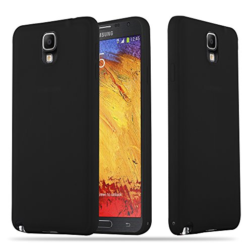 Cadorabo Hülle für Samsung Galaxy Note 3 - Hülle in Candy SCHWARZ – Handyhülle aus TPU Silikon im Candy Design - Silikonhülle Schutzhülle Ultra Slim Soft Back Cover Case Bumper