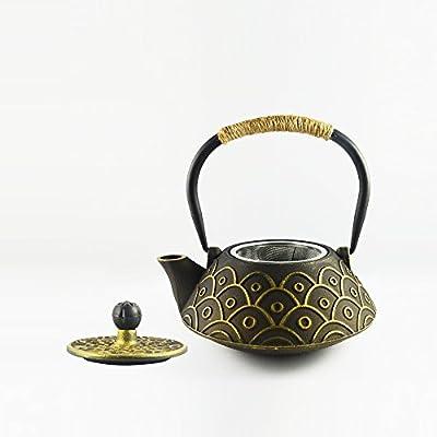 Hwagui-fer de fonte thé vert bouilloire théière avec infuseur en acier inoxydable grande capacité théière d'art pour les adultes 800mm/25O