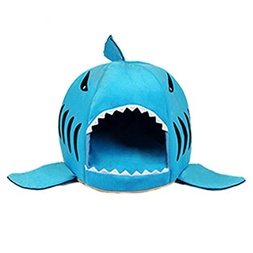 Haustier Warme Weiche Schlafsack Haifisch Hundezucht Katze Bed House (L,