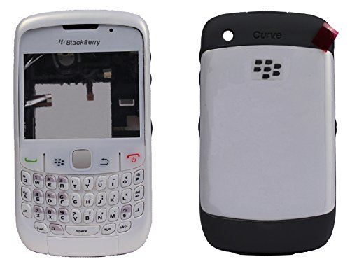 Full Housing Body Panel Faceplate For Blackberry Curve 8520 White  available at amazon for Rs.599