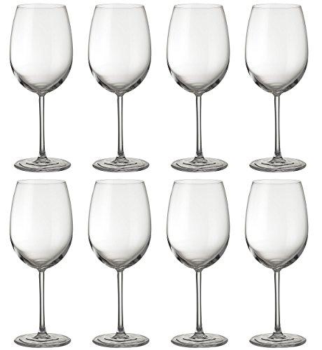 Jamie Oliver Waves Verre à vin rouge 8 x 580 ml/567 gram L et Tall Ultra contemporain Cristal Ensemble de verres à vin Verrerie Superbe Long Tige clair et moderne pour les occasions spéciales Mariage Intérieur/extérieur