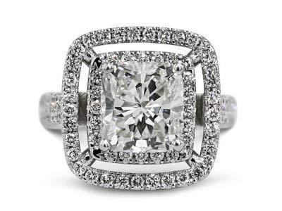 14 Karat Solid White Gold 3.00 Karat Solitaire Diamond Schöne einzigartige Ringe für die Verlobung von Frauen