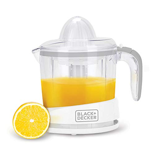 Black + Decker 1 Ltr Citrus Juicer,White