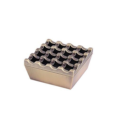 MFFACAI Metall Zinklegierung poröser Retro Zigarre Aschenbecher entfernbar mit Deckel winddichter Aschenbecher, 3 Arten 16 Wahlen, 16 Bronze Color (Aschenbecher Zigarre Bronze)