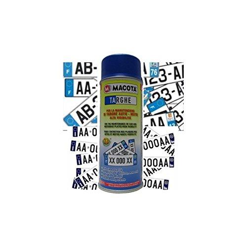 MACOTA Blu Targhe Vernice Spray 400ml Pittura Tuning Targa Auto Colore Blu