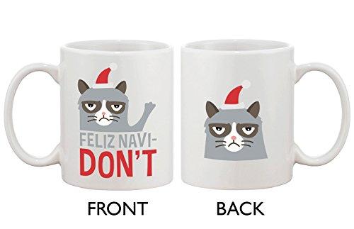 365Stampa Cute Grumpy Cat Holiday-Tazza da caffè Feliz navidon non Tazza in ceramica caffè