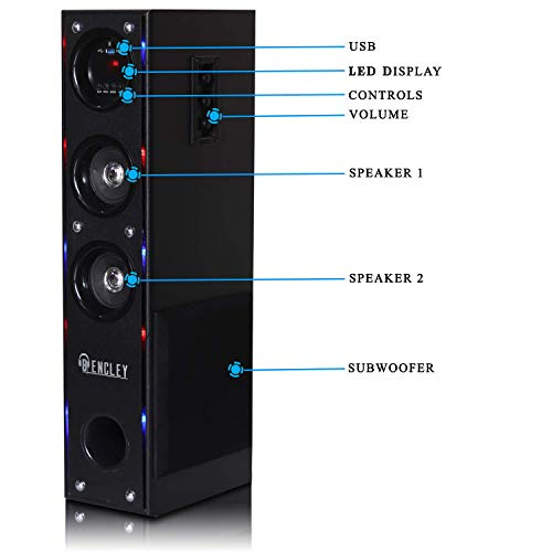 Bencley Bluetooth Tower Speakers 15000W PMPO with FM/PenDrive/Sd Card/Mobile/Aux Support (64 cm Height)