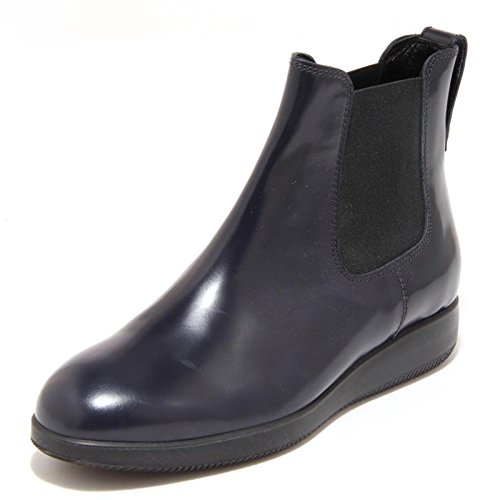 2688G stivaletto donna HOGAN H209 DRESS XL ELASTICO blu scarpa stivale boots BLU DENIM