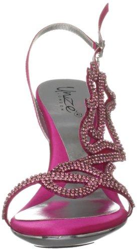 Unze Evening Sandals, Sandali donna Rosa (Pink (L18226W))