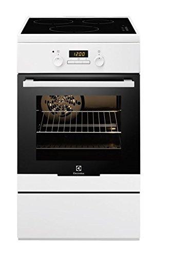Electrolux EKI54552OW Cuisinière Plaque avec zone à induction A-10% Blanc four et cuisinière - Fours et cuisinières (Cuisinière, Blanc, boutons, Plaque avec zone à induction, Electrique, 56 L)
