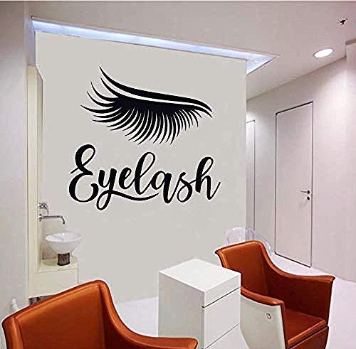 Sticker Wimpern Fenster Sticker Beauty Salon Sticker Dekor Wimpern Augenbrauen Augenbrauen Wandsticker Mädchen 75x72cm