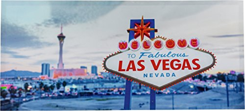 S VEGAS Skyline 1000x450mm auf Leinwand Sign WELCOME beleuchtet (Las Vegas-led)