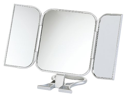 23 x 12cm Folding Travel Mirror True Image, Silver