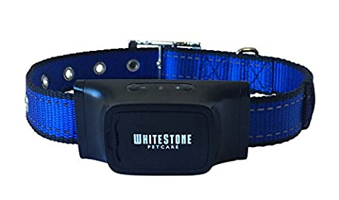 The Barking Control Collar by WhiteStone Petcare - | Blue | 1 Year Warranty Quality Guarantee | An Automatic Anti Bark Device for Barking Dogs, with Advanced Bark Detection Technology | Adjustable and Ergonomic Collar Suits all Dogs; Small, Medium and Large | Pet Friendly Design Produces Sound and Vibration, does not Spray or Shock |