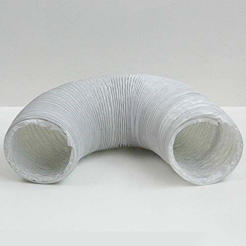 Blauberg UK Pvc - Conducto flexible, color blanco, 100 mm x 3 m