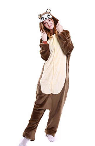 VADOO Winter Warm Flannel Onesie Pajamas Adult Unisex One Piece Jumping Monkey ()