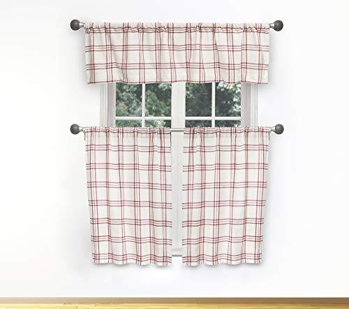 Duck River Textile Gwen Kitchen Curtain Burgundy Red
