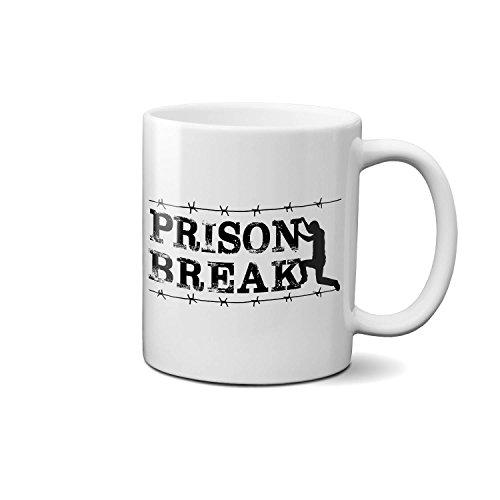 TV series Prison Break Michael Scofield Barbed Wire NEW Kaffeetasse Tee Tasse Becher 312ml/11 Oz.Weiß Neuheit Komisch Kostenloser Versand (Barbed Tee)