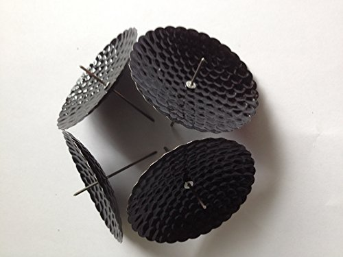 20 Stück Adventskranzkerzenstecker Kerzenstecker Kerzenteller mit Dorn in schwarz