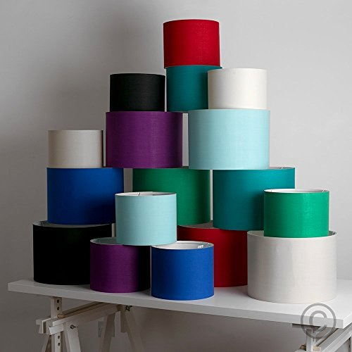 Small Modern Rolla Polycotton Purple Cylinder Ceiling Pendant Table Lamp Drum Light Shade