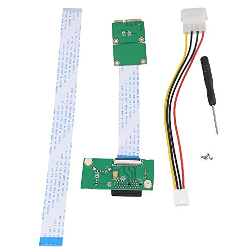 BQLZR Mini PCI-E to PCI-E Express 1X Extension Cord Adapter Card with USB Riser Card (Adapter Card Management)