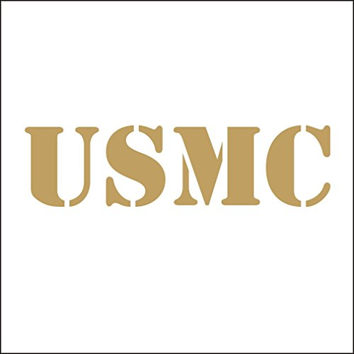 (lepni.me 3141_G Autoaufkleber USMC United States Marine Corps Vinyl Car Decal Decals Sticker Window Wall Truck (Gold))