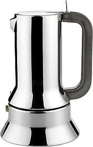 Alessi 9090/6 Caffettiera Espresso con Fondo Magnetico, in Acciaio Inossidabile 18/10, Lucido