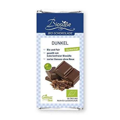 BIOSÜSSE Bio-Schokolade - Confiserieschokolade ohne Zuckerzusatz, Variante:Schokolade Dunkel