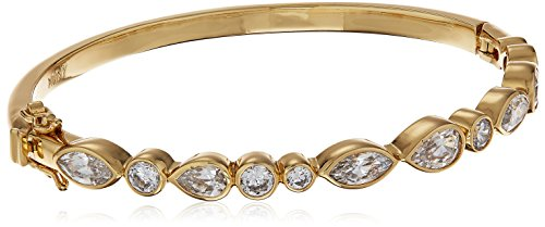nicole-miller-pear-marquise-hinge-gold-bangle-bracelet