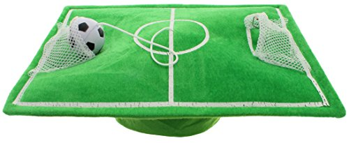 MIK Funshopping Spaß-Hut Fußballfeld Grün mit Ball Fußball-hut