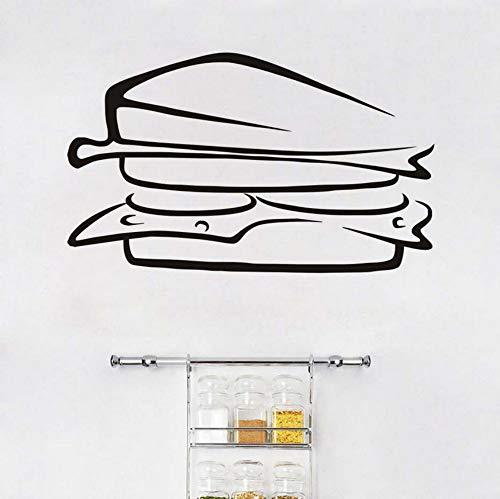Köstliche Sandwich Essen Vinyl Europäischen Stil Entfernbare Wandaufkleber Diy Home Decor Wasserdichte PVC Küche Wandkunstwand 71x43 cm