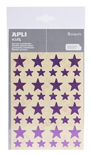 APLI - Bolsa de pegatinas estrella holográficas
