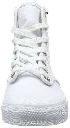 Vans Camden Hi Zip, Sneakers Hautes Femme Blanc (Canvas/White/White)