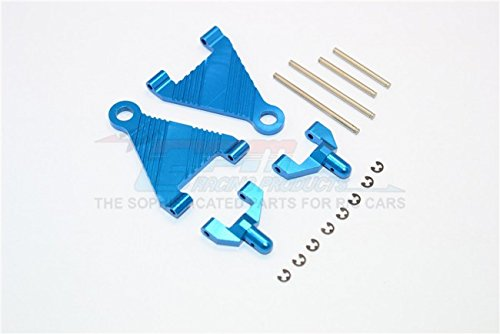 Kyosho Mini Inferno Tuning Teile Aluminium Battery Holder With Pins & E-Clips & Aluminium Mounts - 1Pr Set Blue - Eclip-pin