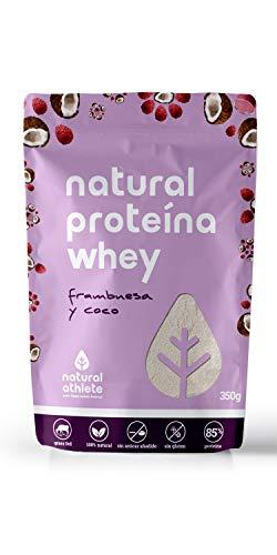 Natural Whey Protein (Molkenproteine). 100% natürlich, ohne Zuckerzusatz, Grass-fed. 350gr (Himbeere und Kokos) (Gras Gefüttert Whey Protein)