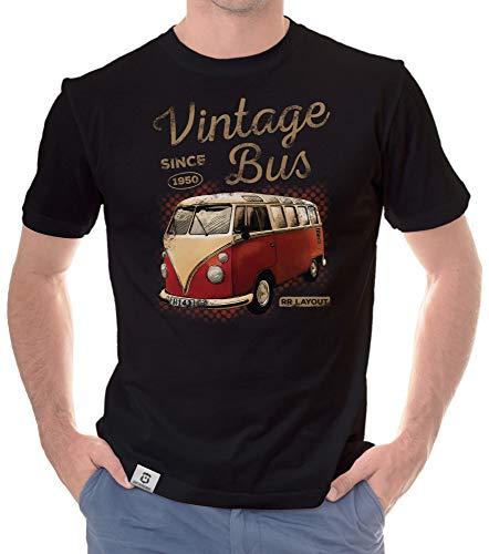 shirtdepartment - Herren T-Shirt - Oldtimer Collection mit wählbaren Designs 1-Vintage-Bus-Hellbraun XL