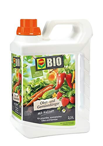 Gemüsedünger für alle Obst- und Gemüsesorten, Natürlicher Spezial-Flüssigdünger, 2,5 Liter ()