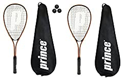 The perfect Squash Racket for players wanting to improve their game, designed with a titanium composite construction that gives the player accuracy, power and control on all your shots. Brief Description: 500cm Sq Head Size Ideal for Power. Prince Po...