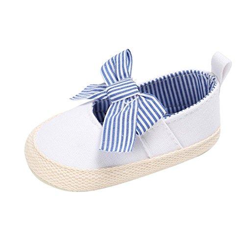 Cutelove confortevole morbida antiscivolo svanire facilmente principessa svegli alla moda tre colori proteggono le scarpe scarpe per bambini Baby Baby ragazza prima Walkers fronte arco tela con Blu