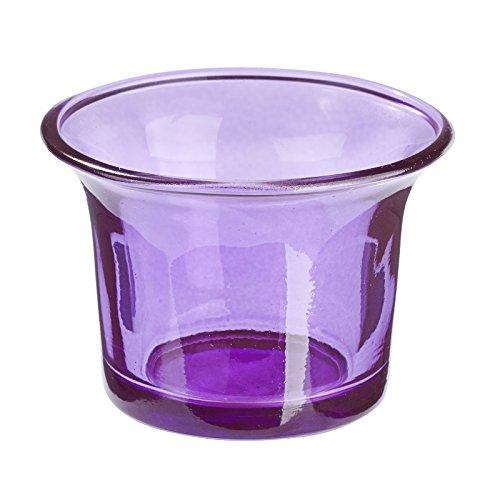 Teelicht Glas Lila, Windlicht, 10 Stk., mediterranes Wohnen (Gläser Lila)